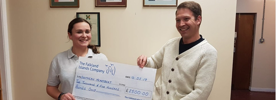 £2,500 donation to Southern Heartbeat