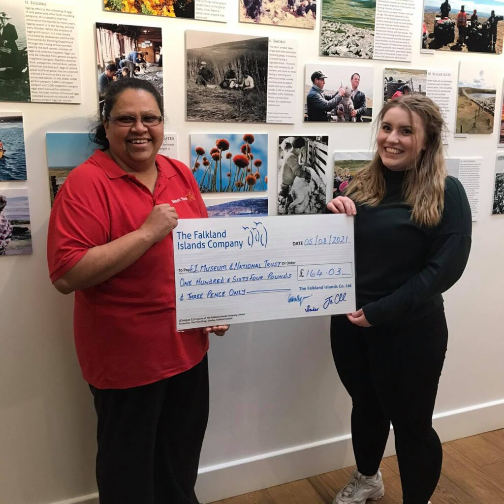 The Falkland Islands Museum & National Trust Receives £164.03 Donation