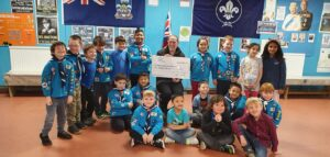 First Falkland Islands Scout Group receives £600 donation from Carrier Bag Fund